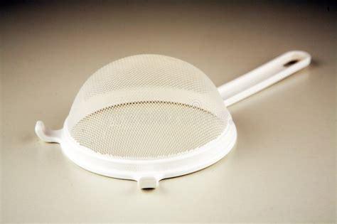 plastic sieve stock photo image  household