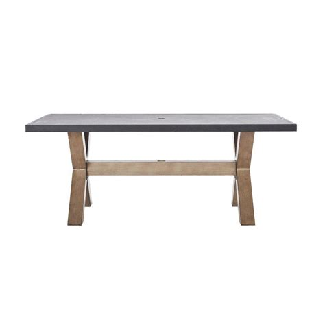 rectangular patio dining table home decorators collection naples natural all weather