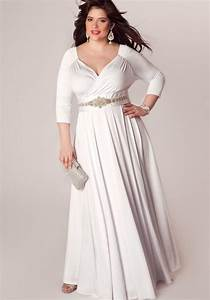 White plus size formal dresses - 2018 trends