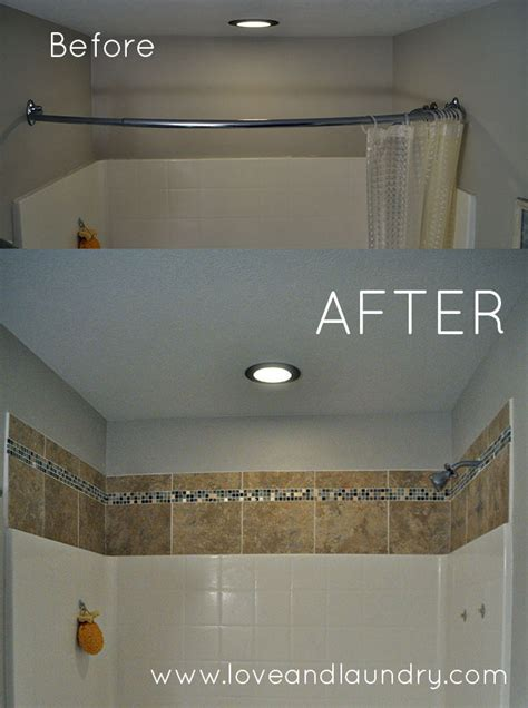 Tile Bathroom Walls Or Not by A And Easy Shower Tub Tile Update