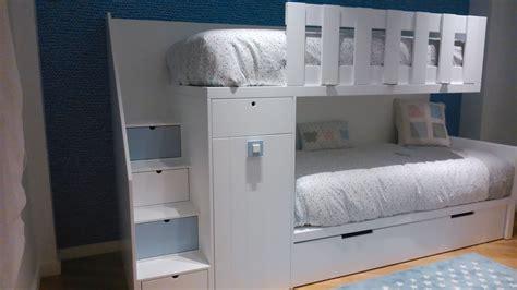 litera tren de  armario  tres camas literas