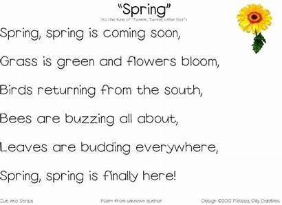 Spring Poem Poems Freebies Rhyme Springtime Famous