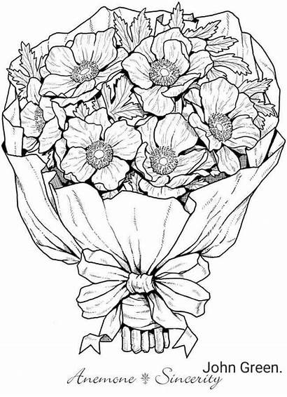 Coloring Pages Flowers Flower Adult Welcome Dover