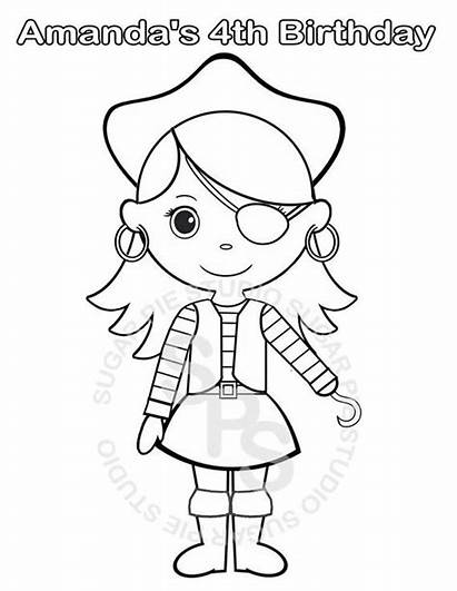 Pirate Coloring Pages Printable Birthday Drawing Party