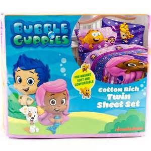 nickelodeon bubble guppies twin single bedding sheet set