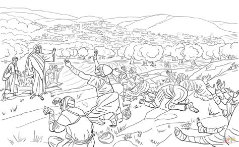 Kleurplaat Bethesda by Jesus Healed 10 Lepers Coloring Page Free Printable