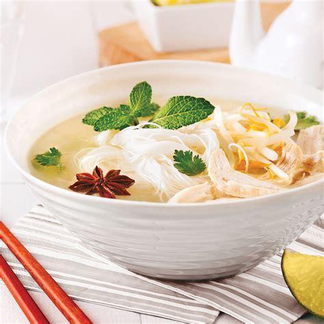 cuisine vietnamienne recette soupe vietnamienne au poulet et vermicelles de riz