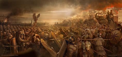 artstation siege of carthage scipio africanus mariusz