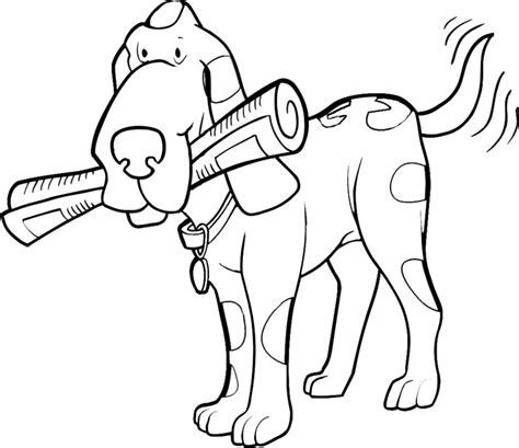 bellissimo cane  giornale da colorare disegni da