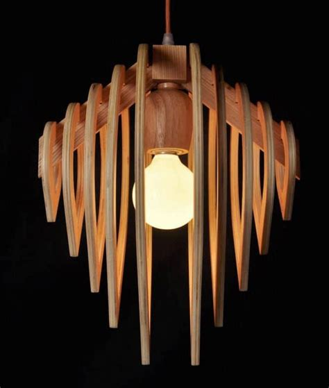 wooden water drop lamp id lights