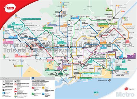 Carte Metro De Pdf by U Bahn Metro Netzplan Und Karte Barcelona