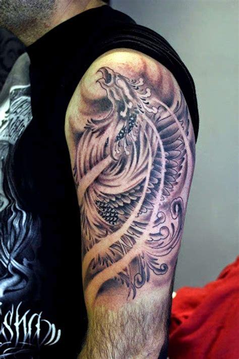 outstanding phoenix shoulder tattoos