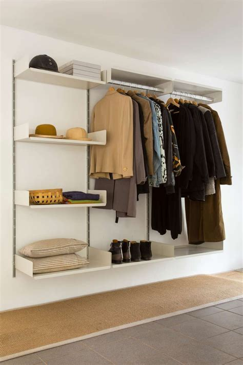 Wardrobe Shelving Systems by Classic Hallway Hanging Rails For Coats Shelves For
