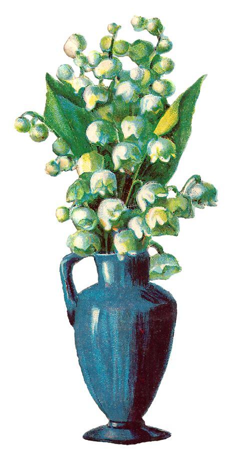 Flower Vase Png by Antique Images Free Printable Flower Vase Wildflower