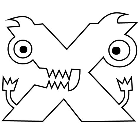 X For Coloring by Letter X Coloring Page