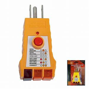 Electrical Gfi Gfci Receptacle Tester Ac Outlet Plug 3