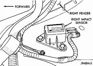 Where Is The Airbag Sensor On A 1996 Dodge 1500 Truck 4x4