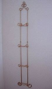 gold wrought ironmetal  plate vertical wall rack  large collectible plates ebay
