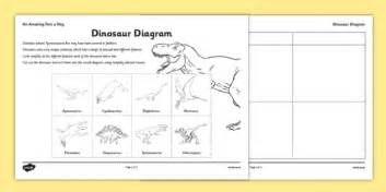 dinosaur diagram worksheet activity sheet dinosaur