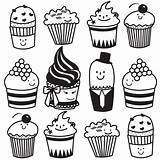 Cupcake Drawing Cute Line Cupcakes Simple Muffin Clipart Cartoon Drawings Clip Getdrawings Faces Cliparts Face sketch template