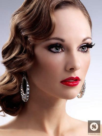 hairstyle of finger wave burgundy hair styles