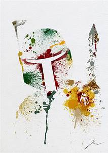 Abstract Paint Splatters of Familiar Star Wars Characters ...