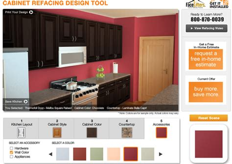 home depot cabinet refacing design tool growing  gabel