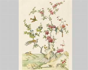 Papier Peint Japonisant : oiseaux chinois papier peint chambre pinterest ~ Premium-room.com Idées de Décoration