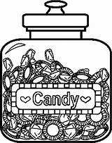 Coloring Candy Pages Printable Jar Template Apple Coloringpages101 Templates sketch template