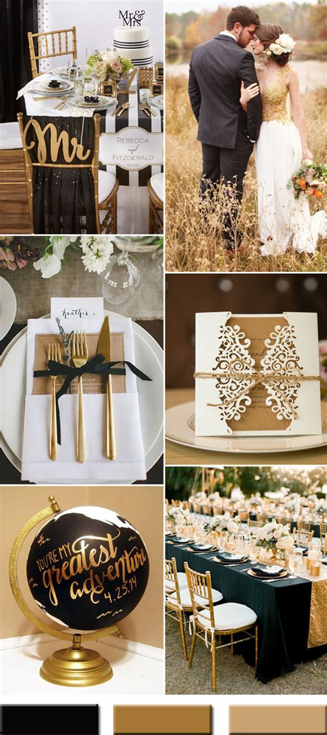 gold wedding colors combos trends stylish