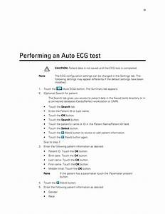 Performing An Auto Ecg Test