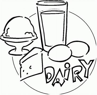 Dairy Coloring Pages Clipart Cliparts Template Clip