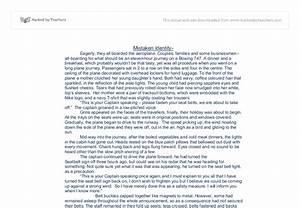Sample Essays High School A Case Of Mistaken Identity Essay Example Essay Writing Examples English also My Country Sri Lanka Essay English Mistaken Identity Essay October Sky Essay Mistaken Identity Examples  Thesis Statement Examples For Argumentative Essays