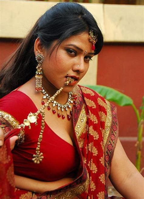 tamil actress jyothi meena photos tollywood actress jyothi cleavage show in sexy red blouse