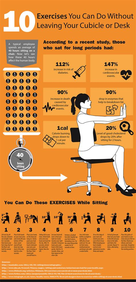 how to exercise at your desk 10 exercises you can do at your cubicle or desk