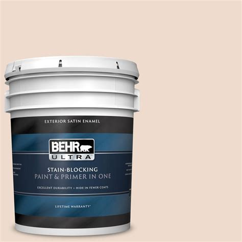 behr ultra 5 gal 290e 1 weathered sandstone satin enamel exterior paint and primer in one