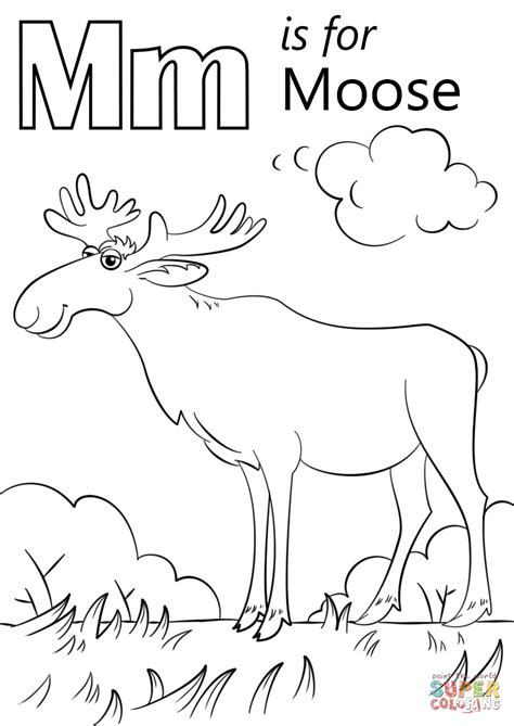 moose coloring template coloring pages