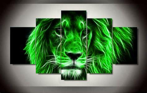 panels african lion group artwork multi canvas art