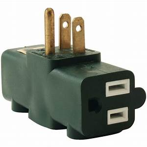Axis 3-Outlet Heavy-Duty Grounding Adapter-45092 - The