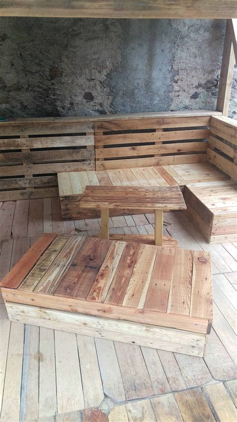 absolutely amazing complete pallet terrace set  pallets