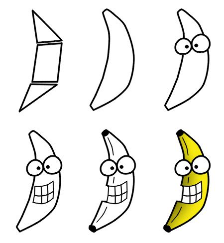 drawing  cartoon fruit