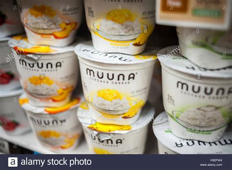 flavored cottage cheese containers of muuna brand flavored cottage cheese in a