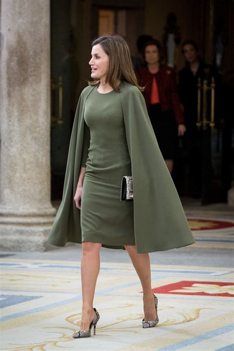 queen letizia  spain cocktail dress queen letizia  spain clothes  stylebistro