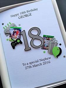Large 18th Birthday Cards For Son Personalised 18th