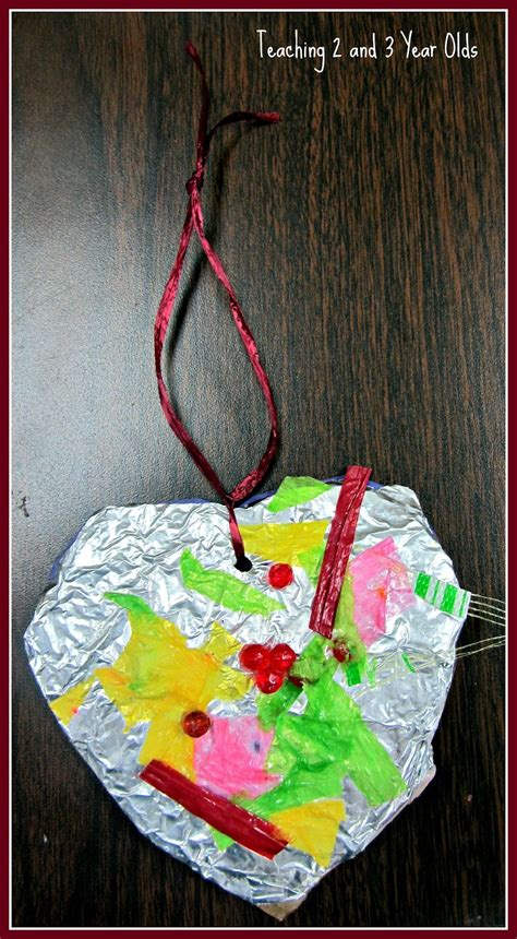 foil valentines hearts teaching    year olds