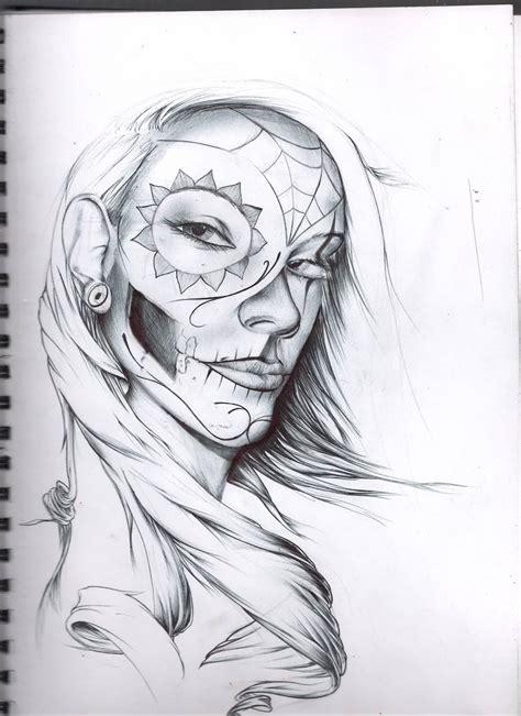 catrina sketch tattoos ideas