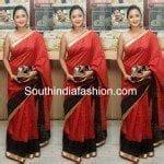 actress madhuri mp kavitha kamalini mukherjee in kota silk saree south india fashion