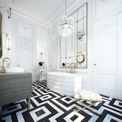 Modern White Bathroom Floor Tile by 5 Bold Bathroom Tile Floors Cococozy
