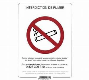 Panneau Interdiction De Fumer : panneau interdiction fumer a4 adhesif vinyle ~ Melissatoandfro.com Idées de Décoration