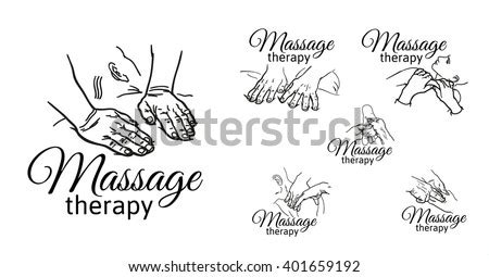 Soft piano and guitar are common instruments for this background genre. Varieties Massage Hands Logos Set Types Stock Vector ...